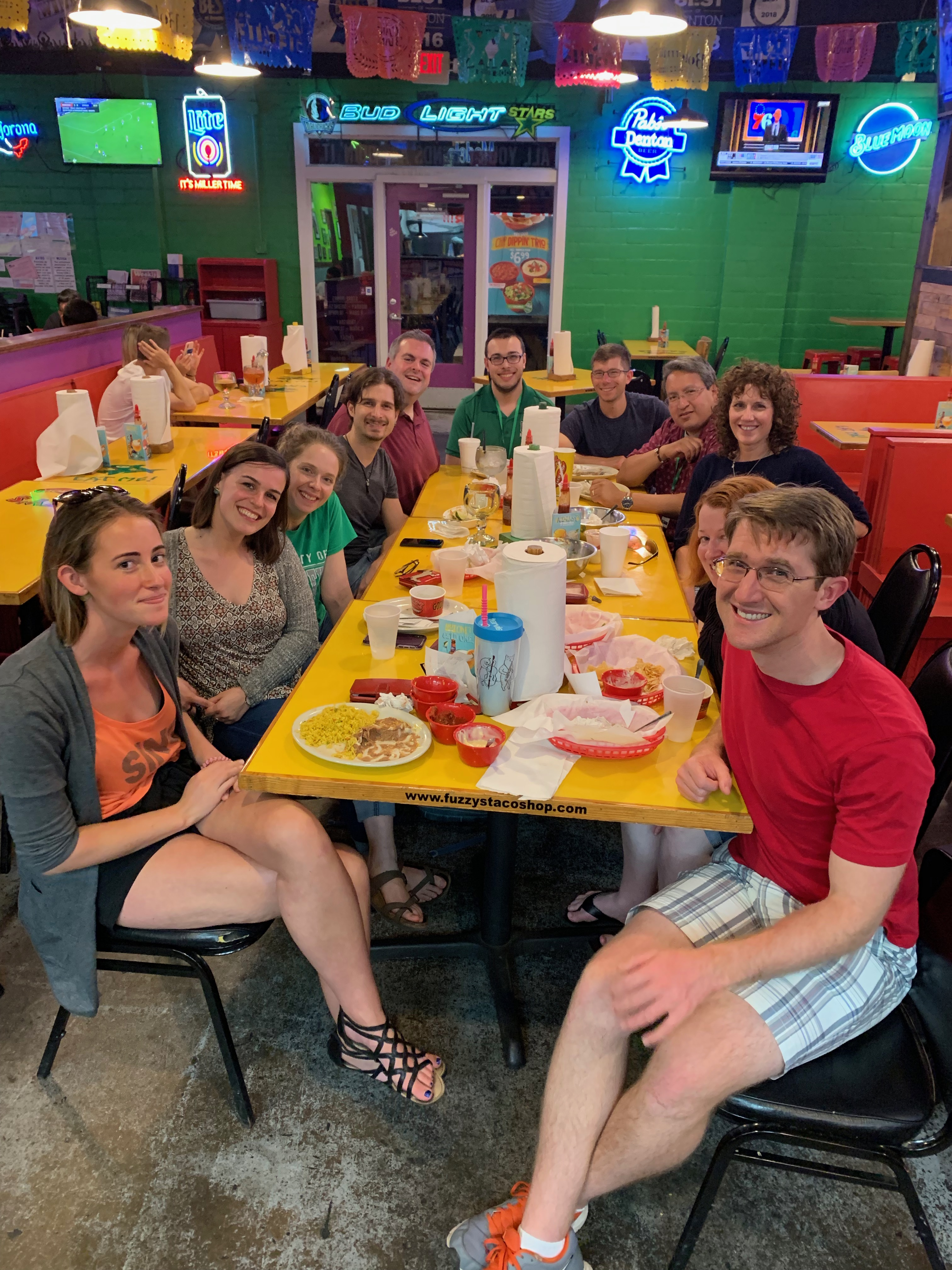 Educator Seminar participants at Fuzzy's Tacos