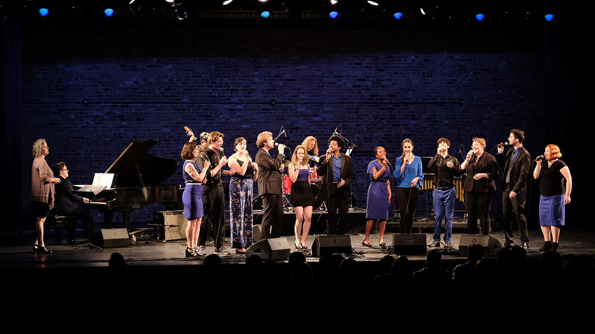 Jazz Singers, Symphony Space in NYC. Photo by Christopher Walker.